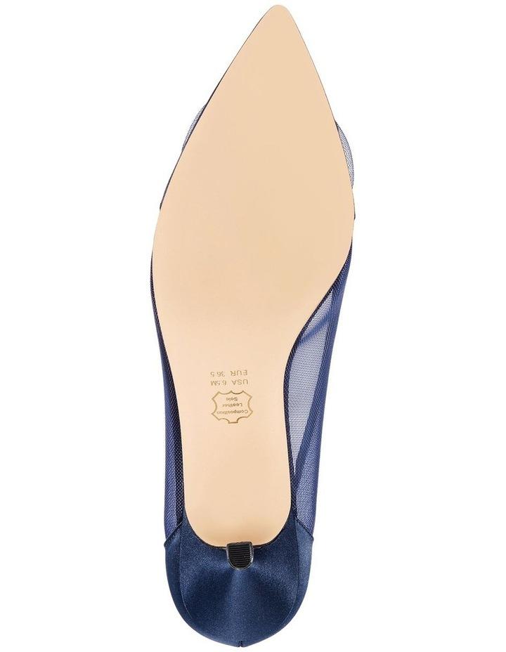 Bettey New Navy Satin Heeled Shoes image 4