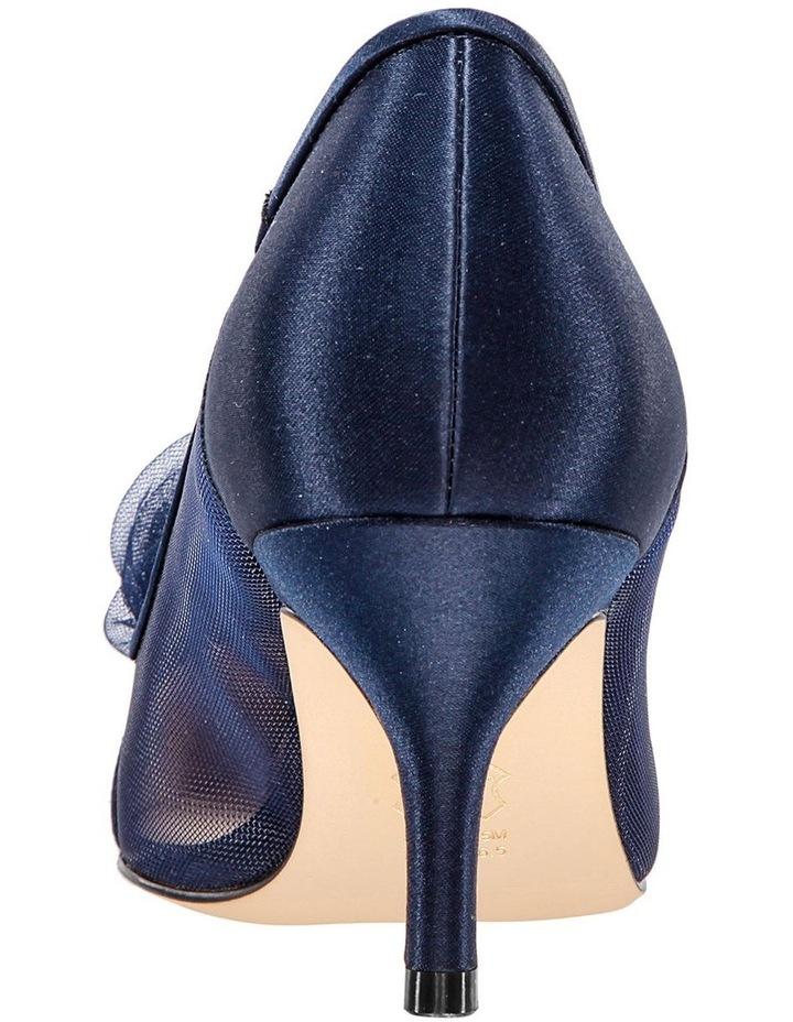 Bettey New Navy Satin Heeled Shoes image 5