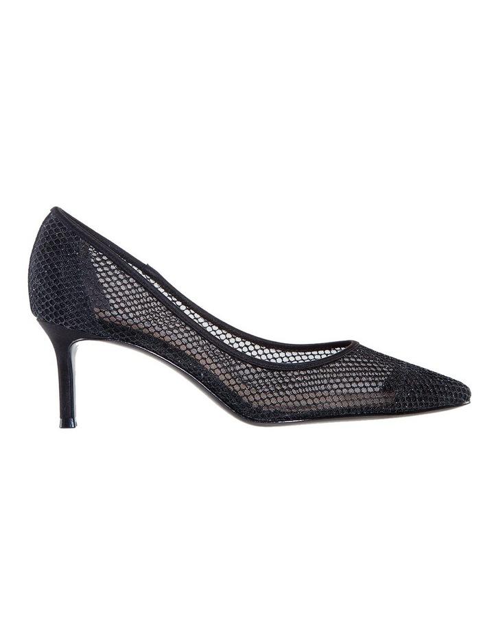 Niley Black Luster Satin Heeled shoes image 1