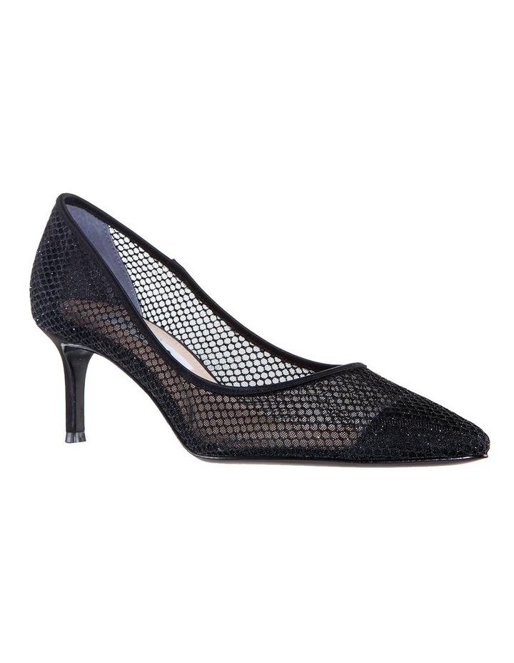 Niley Black Luster Satin Heeled shoes image 2