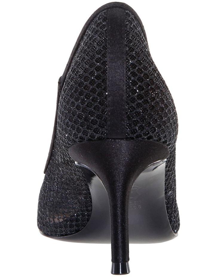 Niley Black Luster Satin Heeled shoes image 3