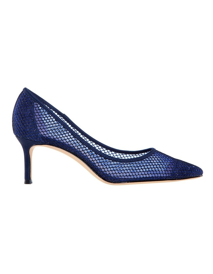 Niley Navy Luster Satin Heeled shoes image 1