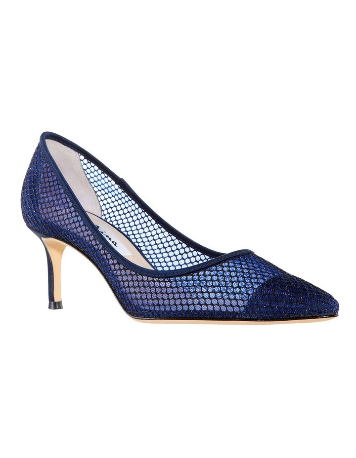 Niley Navy Luster Satin Heeled shoes image 2