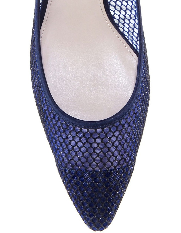 Niley Navy Luster Satin Heeled shoes image 3