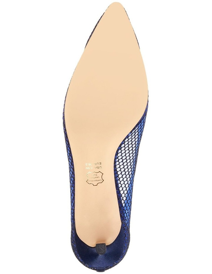 Niley Navy Luster Satin Heeled shoes image 4