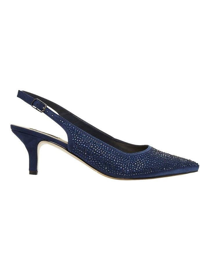 Teagan Navy Fabric Heeled Shoes image 1