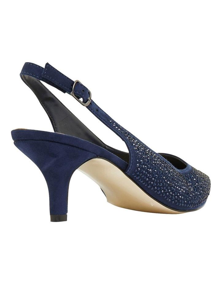 Teagan Navy Fabric Heeled Shoes image 4