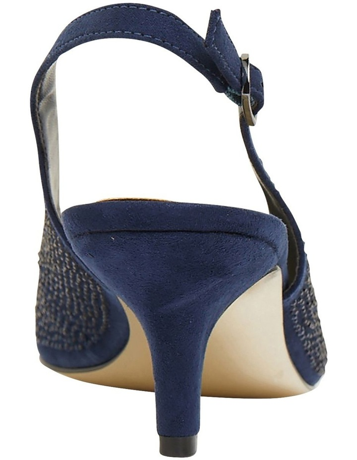 Teagan Navy Fabric Heeled Shoes image 5