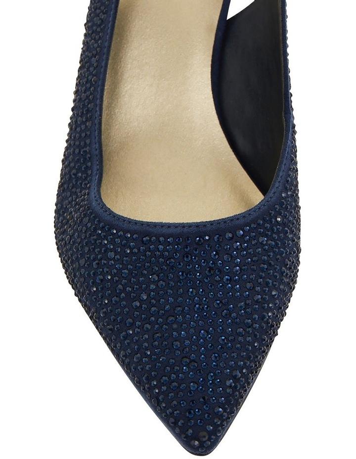 Teagan Navy Fabric Heeled Shoes image 6