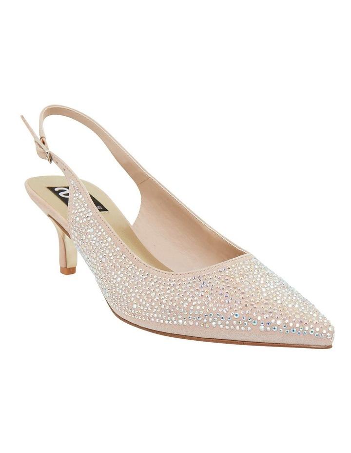 Teagan Blush Fabric Heeled Shoes image 2