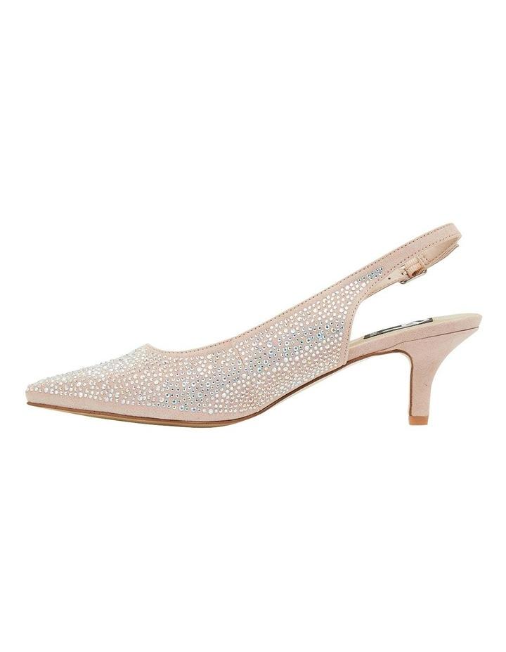 Teagan Blush Fabric Heeled Shoes image 3