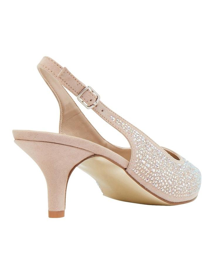 Teagan Blush Fabric Heeled Shoes image 4