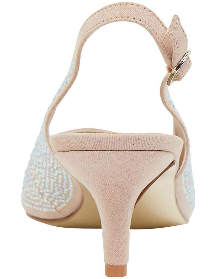 Teagan Blush Fabric Heeled Shoes image 5