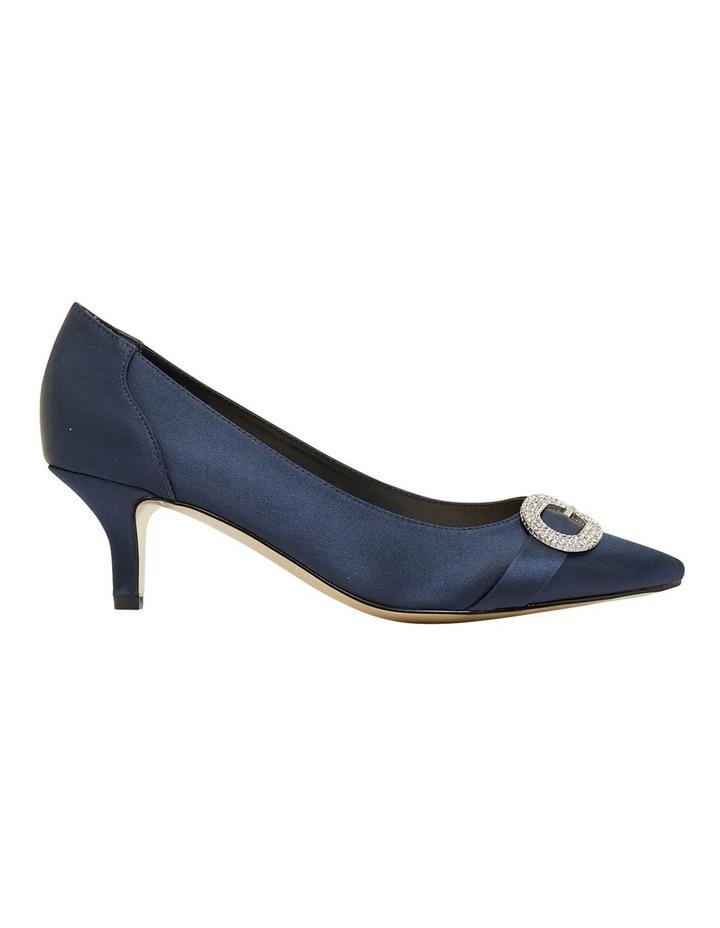 Tina Bright Navy Satin Heeled Shoes image 1