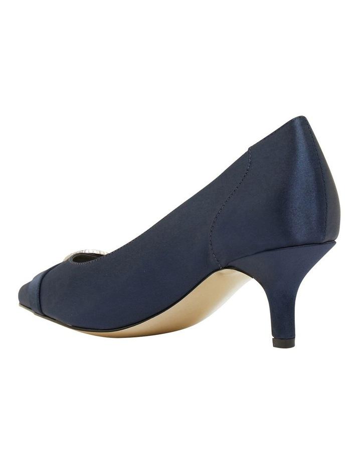 Tina Bright Navy Satin Heeled Shoes image 7