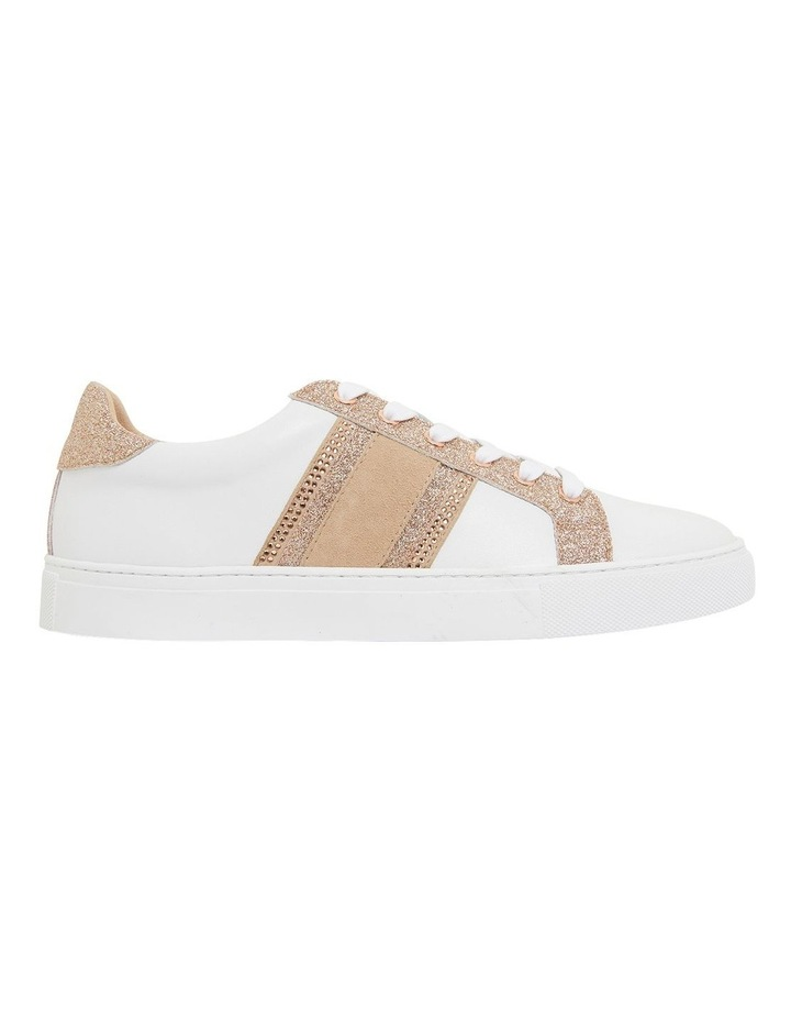 Pink Inc Daisy White/Rose Gold Sneakers image 1