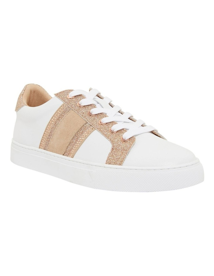 Pink Inc Daisy White/Rose Gold Sneakers image 2