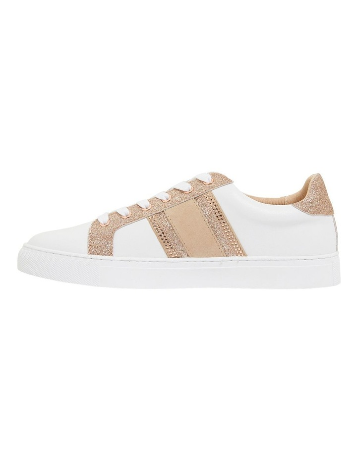 Pink Inc Daisy White/Rose Gold Sneakers image 3