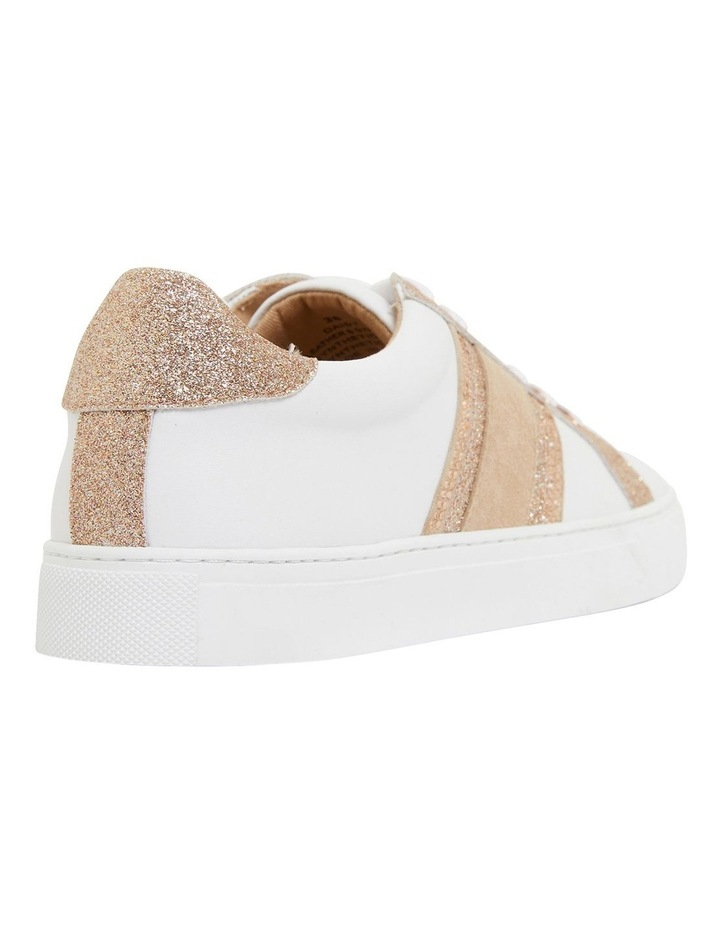 Pink Inc Daisy White/Rose Gold Sneakers image 4