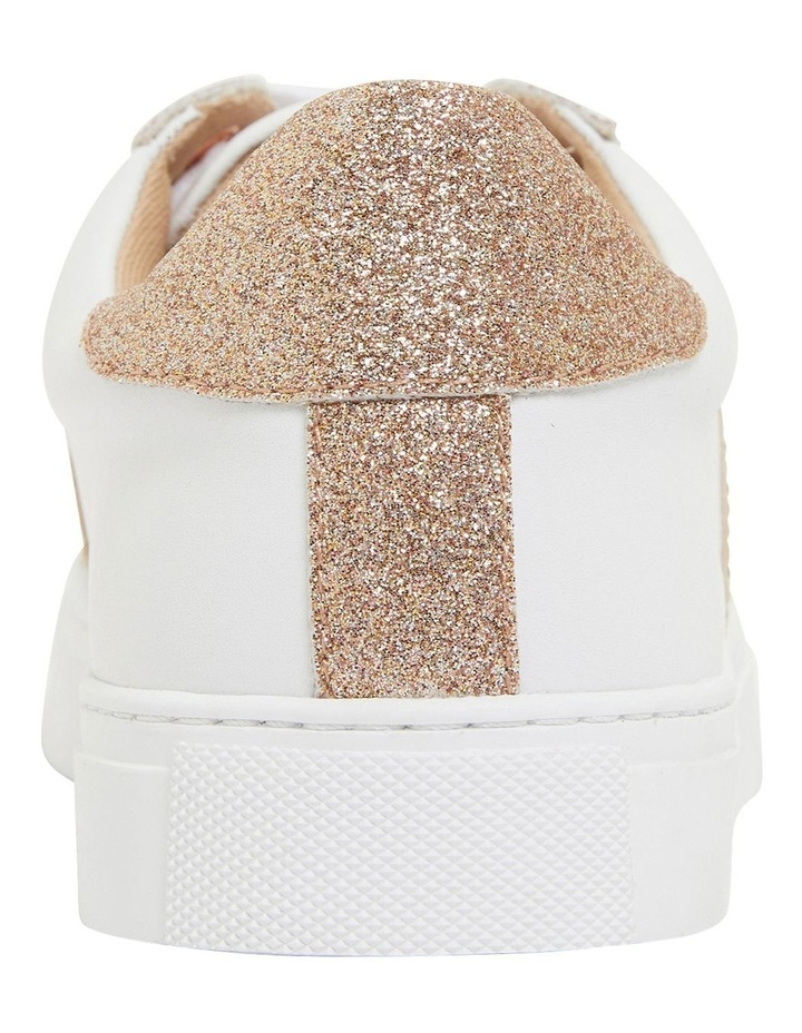 Pink Inc Daisy White/Rose Gold Sneakers image 5