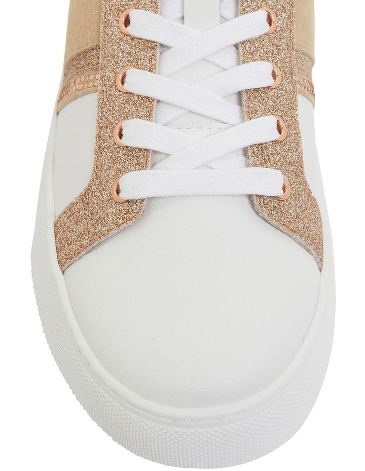 Pink Inc Daisy White/Rose Gold Sneakers image 6