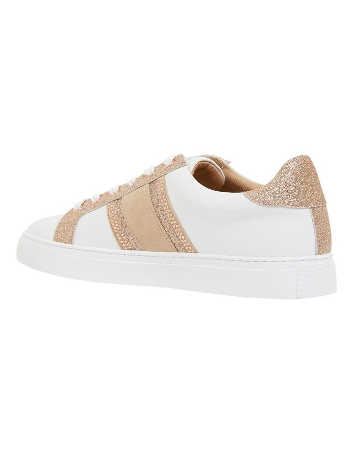 Pink Inc Daisy White/Rose Gold Sneakers image 7