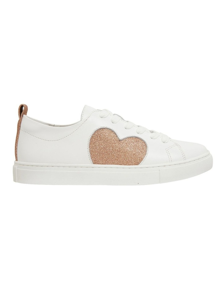 Love Rose / Gold Glitter Sneakers image 1