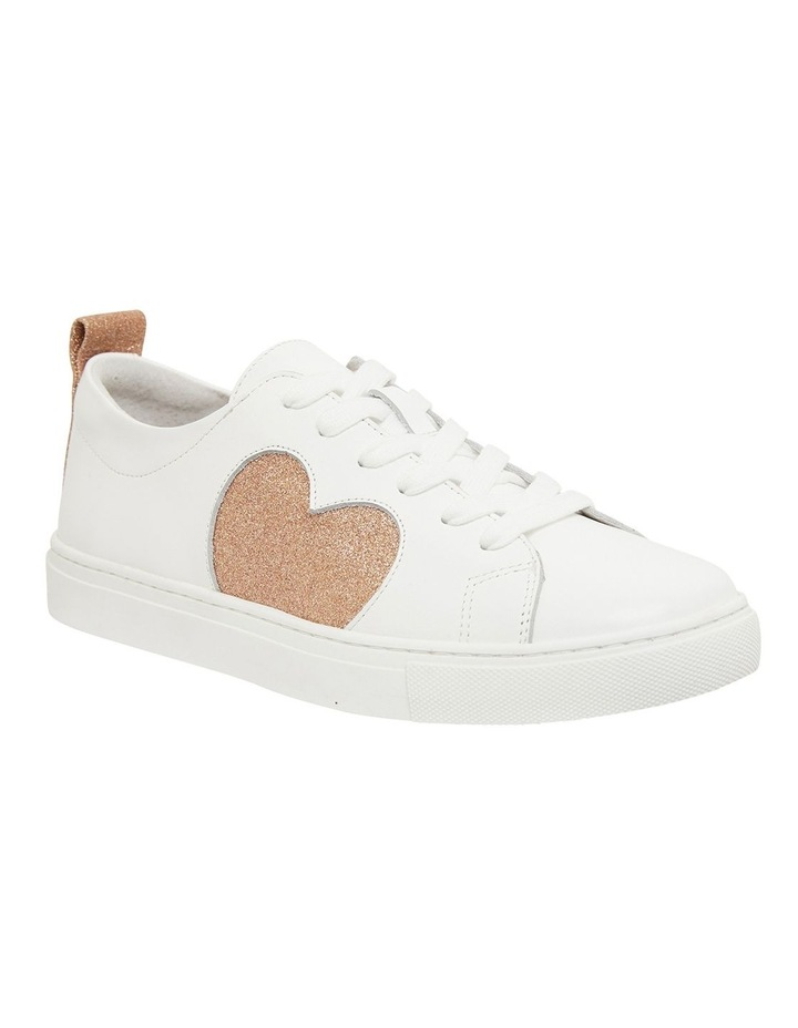 Love Rose / Gold Glitter Sneakers image 2