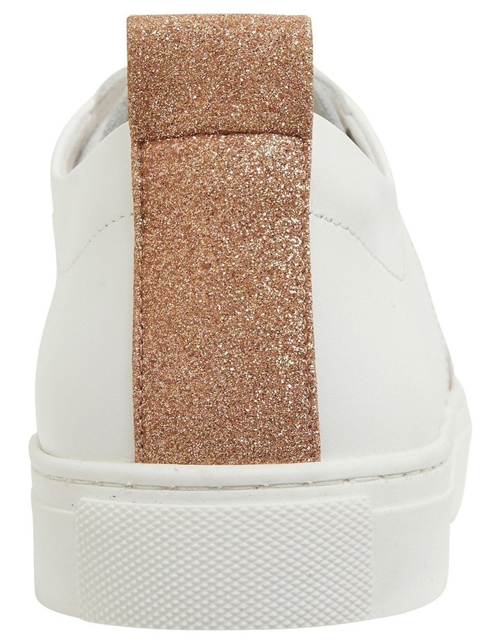 Love Rose / Gold Glitter Sneakers image 5