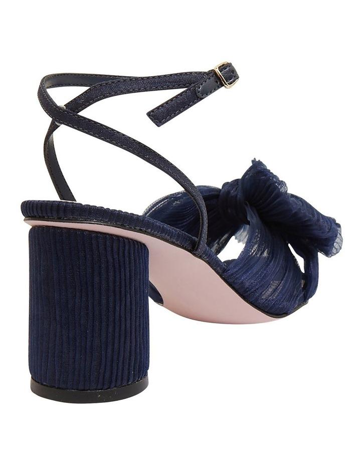 Secret Navy Fabric Sandals image 4
