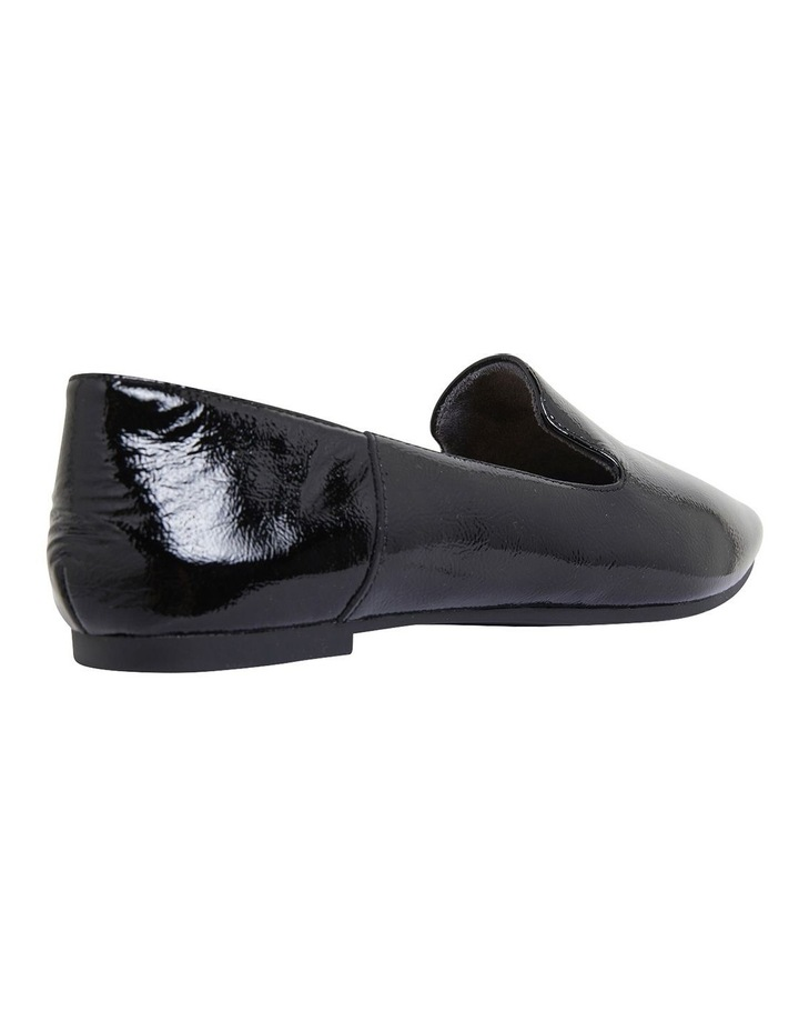 Liana Black Crinkle Patent Flat Shoes image 4