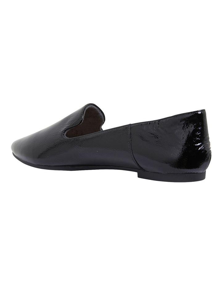 Liana Black Crinkle Patent Flat Shoes image 6