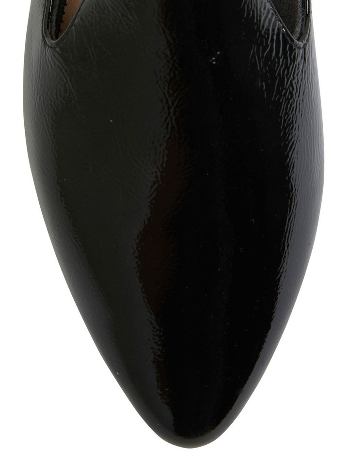Liana Black Crinkle Patent Flat Shoes image 7