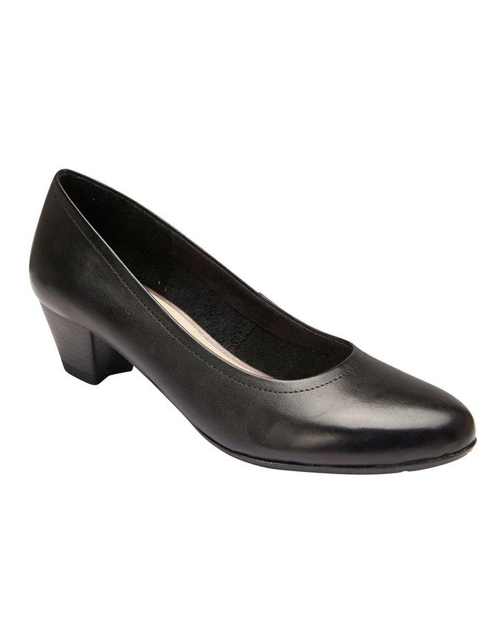 Ollie Black Glove Heeled Shoes image 2