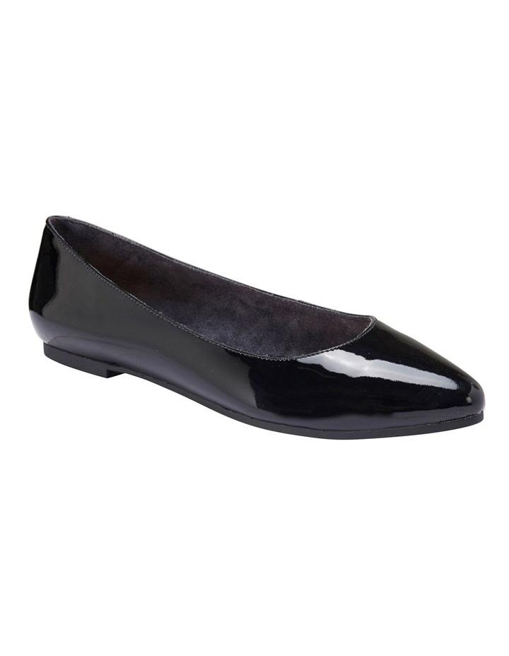 Lucia Black Patent Flat Shoes image 2