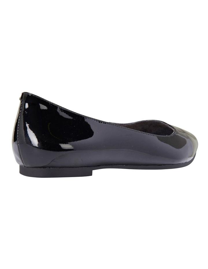 Lucia Black Patent Flat Shoes image 6