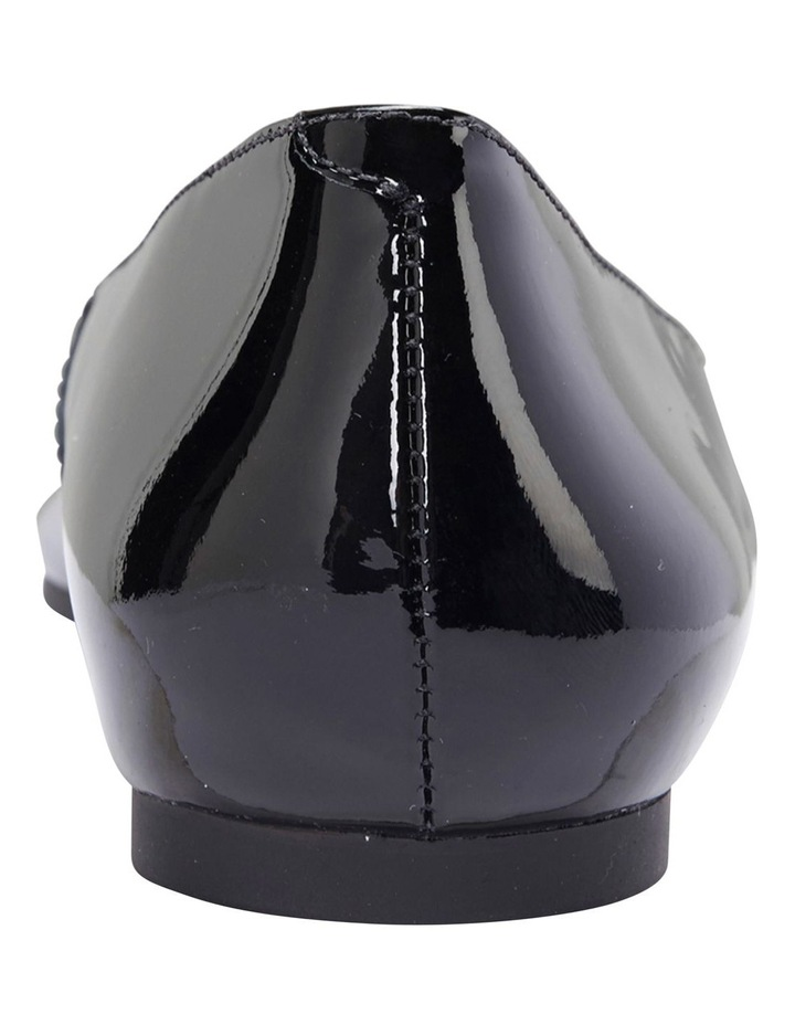 Lucia Black Patent Flat Shoes image 7