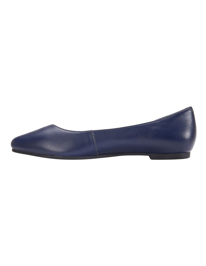 Lucia Navy Glove Flat Shoes image 3