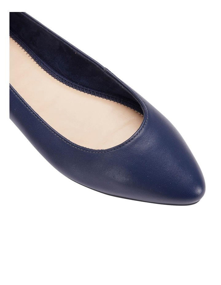 Lucia Navy Glove Flat Shoes image 5