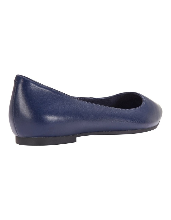 Lucia Navy Glove Flat Shoes image 6