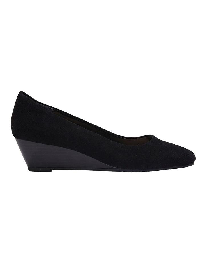 Henry Black Suede Heeled Shoes image 1