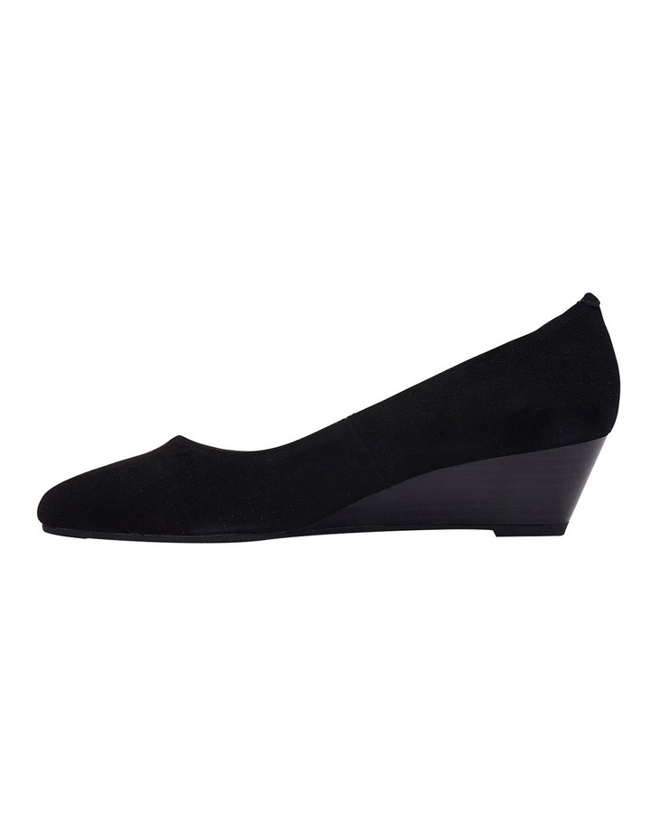 Henry Black Suede Heeled Shoes image 3