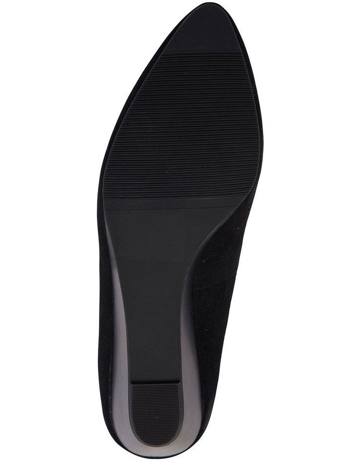 Henry Black Suede Heeled Shoes image 5