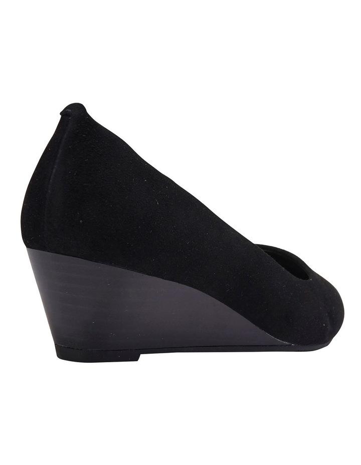 Henry Black Suede Heeled Shoes image 6