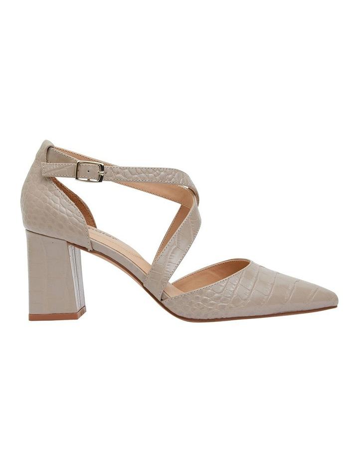 Kara Nude Croc Heeled Shoes image 1