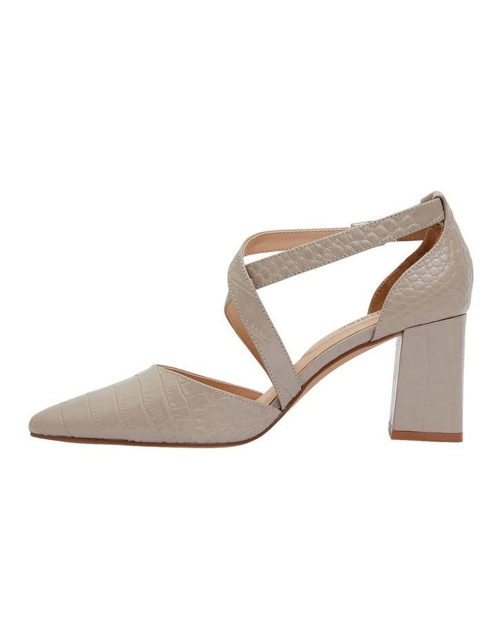 Kara Nude Croc Heeled Shoes image 3