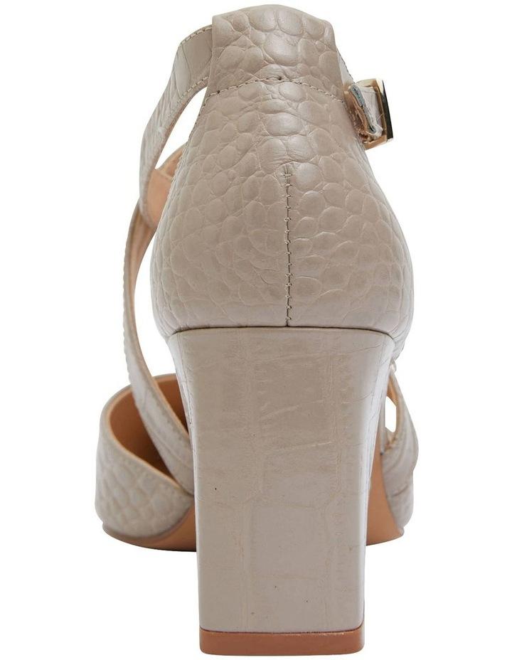 Kara Nude Croc Heeled Shoes image 5