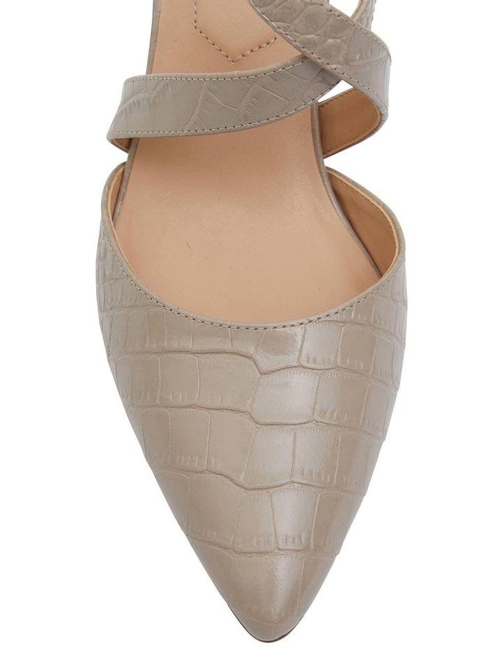 Kara Nude Croc Heeled Shoes image 6