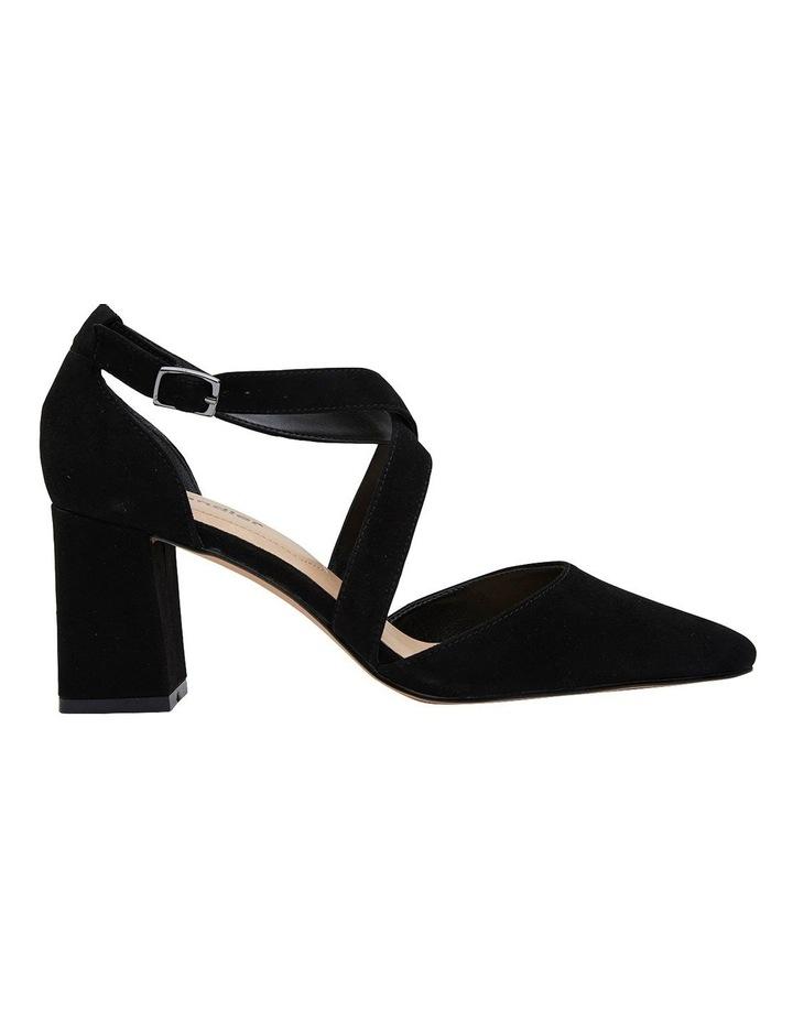 Kara Black Suede Heeled Shoes image 1