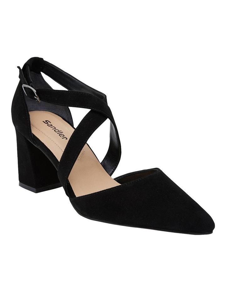 Kara Black Suede Heeled Shoes image 2
